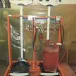 Station for filling cylinders PNB-50/4 (with magnetic cut-off system for LPG without compressed air consumption)