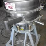 Vibrating sieve for the food industry