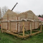 Baths and houses from rounded and hewn logs