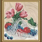 VKA4707 Apples with grapes in crystal - scheme (Art Solo)