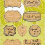 WSP-01 Decorative Stickers 10 Thank You