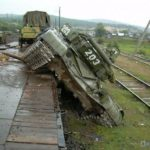 ShKT-80 spur for mounting T-80 on railway platforms