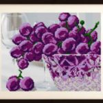 VKA4202 In crystal. Grapes - scheme (Art Solo)