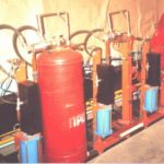 Machine for unloading gas from cylinders SSB
