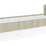 Children's cot Polini Simple 1100 with chest of drawers, elm-white