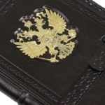 """Diary A5 """"Russia Gold-headed"""" black"""